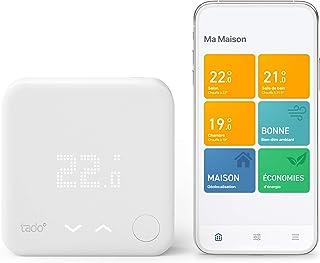 tado° Thermostat Connecté et Intelligent filaire - Kit de Démarrage V3+ – Contrôle intelligent du chauffage, Installez par...