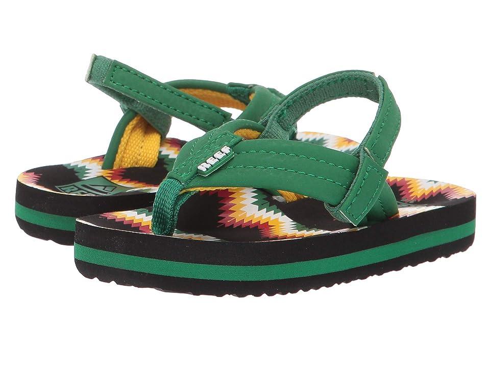Reef Kids Ahi (Infant/Toddler/Little Kid/Big Kid) (Black/Green Blanket) Boys Shoes