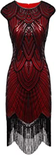 FAIRY COUPLE 1920s Sequined Embellished Tassels Hem Flapper Dress D20S002