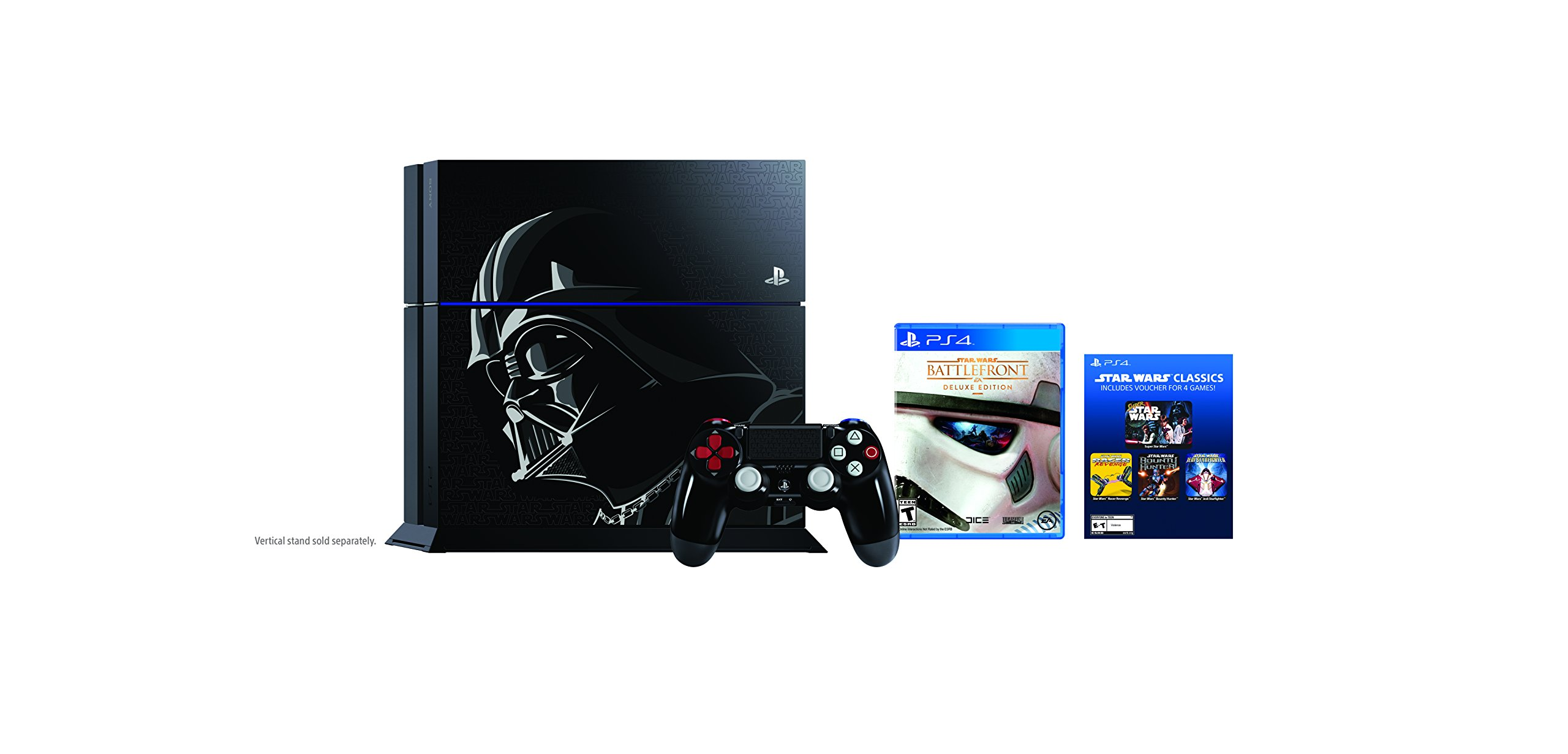 Sony PlayStation 4 500 GB Consola - Star Wars Battlefront Pack de Edición Limitada [continuado]: Amazon.es: Videojuegos