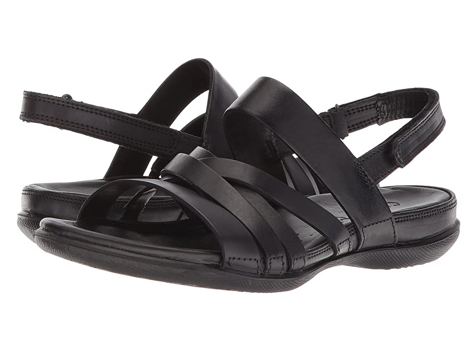 ECCO Flash Casual Sandal (Black Cow Leather) Women