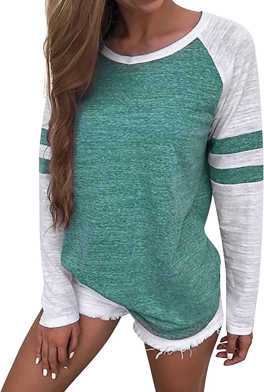 Womens Comfy Long Sleeve Tunics Shirts Tops Casual Loose Soft Tunics
