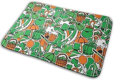 St. Patrick's Day Ireland Beer Hat Carpet Non-Slip Welcome Front Doormat Entryway Carpet Washable Outdoor Indoor Mat Room Rug 15.7 X 23.6 inch