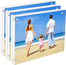 8x10 Acrylic Frame 3 Pack, NIUBEE Tabletop Double Sided Magnetic Picture Frame with Retail Gift Box