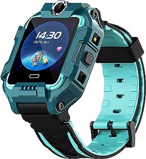 shjjyp Smartwatch NiñOs con GPS Y Llamadas Lbs Rastreador PodóMetro Impermeable CáMara Sos Pantalla TáCtil HD ConversacióN...