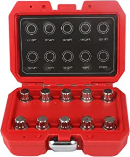 "4pc 1//2/"" Drive Impact Flip Socket Set Lug Nut Remover Installer Industrial Tool"