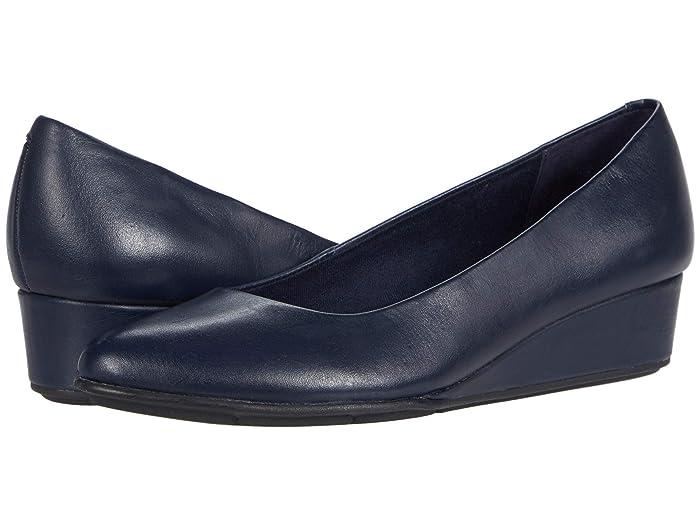 Retro Vintage Style Wide Shoes Easy Spirit Abelle Blue Womens Shoes $60.36 AT vintagedancer.com