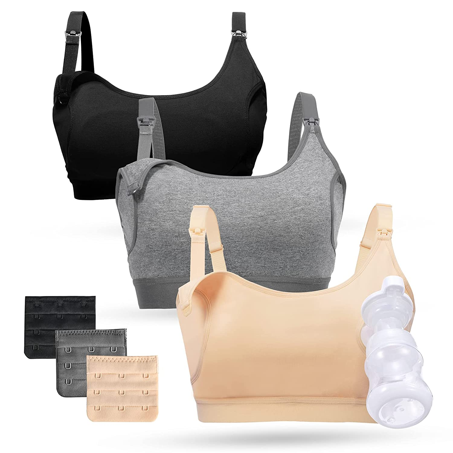Momcozy Year-end gift Pumping Bra Hands Free Bras Pack Women Max 56% OFF 3 for Su