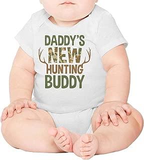 Daddy's New Hunting Buddy Newborn,Baby Onesies,Baby Onesie} Romper Soft One-Piece Cotton Short Sleeve