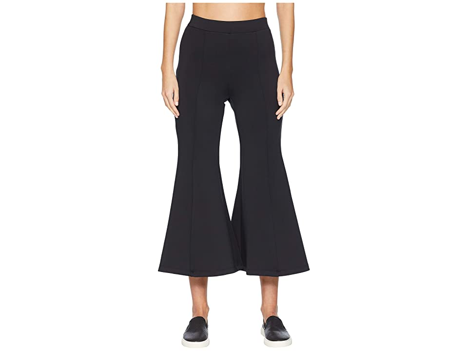 Cushnie et Ochs High-Waisted Cropped Neoprene Flare Pants (Black) Women