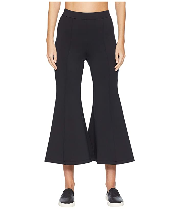 Cushnie High-Waisted Cropped Neoprene Flare Pants (Black) Women