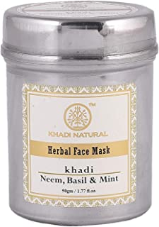 Khadi Natural - Khadi Natural Neem, Basil and Mint Anti Acne Face Mask, 50g
