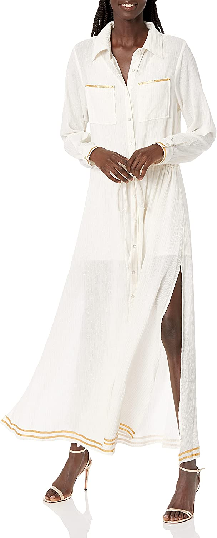 Ramy Brook Women's Standard Anisa Longsleeve Midi Coverup Dress