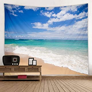 JINYAO Blue Sky and White Clouds Print Decorative Blanket Tapestry Wall Hanging Art Decoration Living Room and Bedroom Hanging 78x59 inches