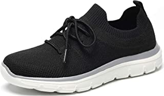 Women's Slip On Shoes Athletic Walking Sneaker Lightweight Running Knit Breathable Casual Sport Shoes
