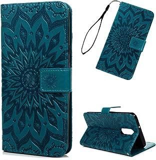 LG Stylo 4 Case, LG Stylo 4 Wallet Flip Folio Case Kickstand Card Slots 3D Embossed Sunflower PU Leather Wallet Case Shockproof Soft TPU Rubber Bumper Gel Ultral Slim Wallet Cover for LG Stylo 4