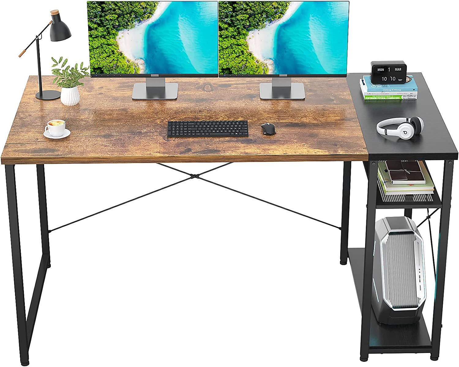 Ecoprsio 47 Inch Max 50% Oakland Mall OFF Computer Desk Storage Office She with Home