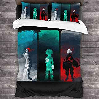 Hidreama My Hero Academia 3Pcs Bedding Printing Duvet Cover Set Soft(No Comforter),Twin for Teen Kid's Children Adult Gift Bed Set