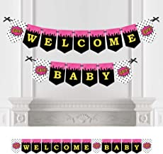 Big Dot of Happiness Bam Girl Superhero - Baby Shower Bunting Banner - Comic Book Party Decorations - Welcome Baby
