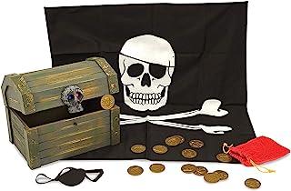 Melissa&Doug- Wooden Chest Juego de Madera Piratas, Multicolor (12576)