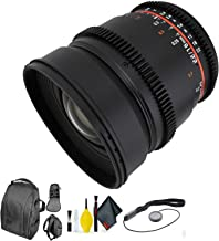 ROKINON 16MM T/2.2 CINE Micro 4/3 + Deluxe Lens Cleaning Kit