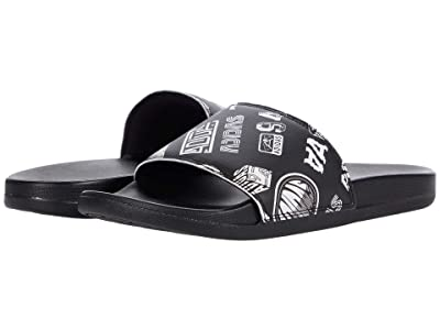 adidas Adilette Comfort Slides (Black/Black/White) Athletic Shoes