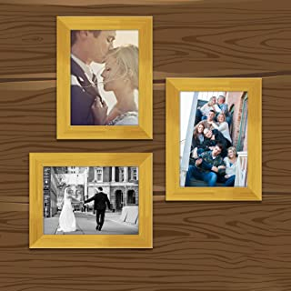 ArtzFolio Wall Photo Frame D460 Golden 5x7inch;Set of 3 PCS