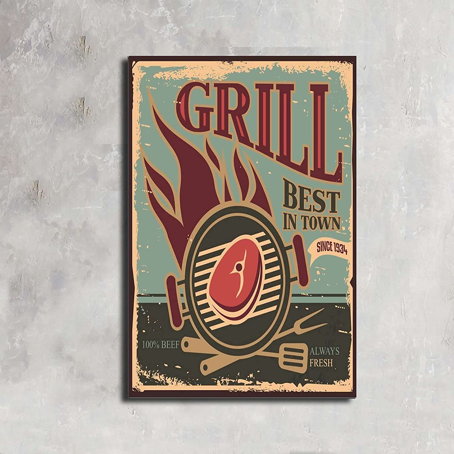 GRILL Inspirational Motivation Success depot Special price for a limited time Canvas Art Wall Pictures