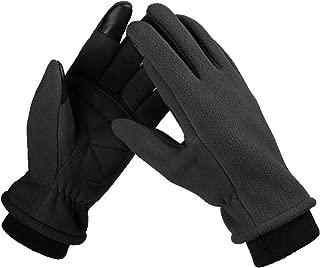 Bessteven Warm Winter Gloves Goatskin Fingertips Touch Screen Glove Liners with Full Hands Thermal Polar Fleece for Women Driving, Running, Hiking