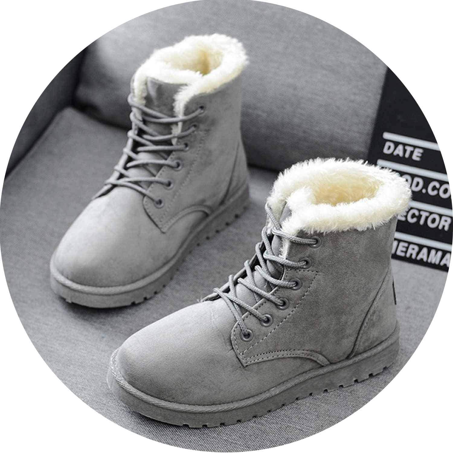 Women Boots Warm Winter Boots Female Fashion Women shoes Faux Suede Ankle Boots for Women