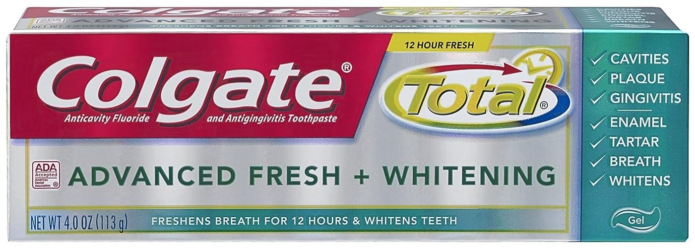 リムチャペル証明書Colgate 総高度な新鮮+ホワイトニング歯磨き、4.0オンス(6パック) 6パック