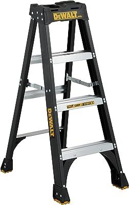 DeWalt DXL3010-04 Fiberglass Stepladder, 4-Feet, Black