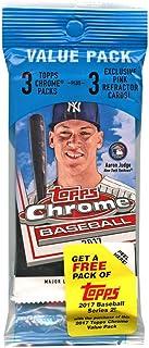 1 PACK: 2017 Topps Chrome MLB Baseball Value Pack