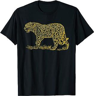 Jaguar Tigre d'or vintage rétro cadeau animaux pour filles T-Shirt