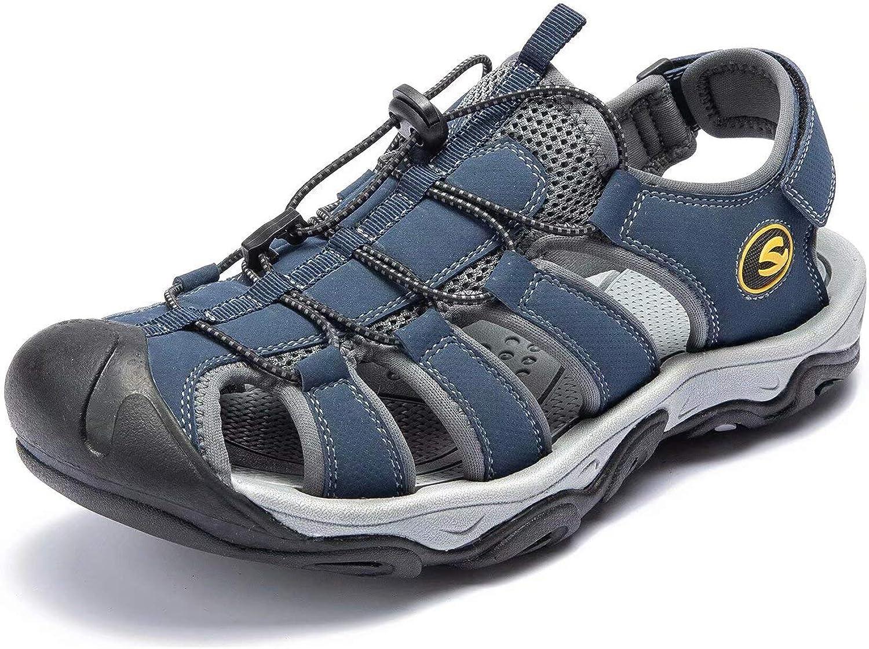 ODOUK herr utomhus Hiking Sandals Sport Athletic Athletic Athletic Climbing Fisher Sandals (blå -a,12 M USA)  till salu 70% rabatt