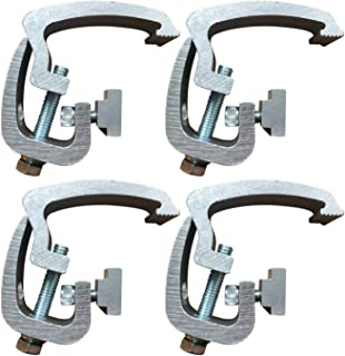 API Clamps (4 Pack) Silver Compatible with Toyota Tacoma - 2005 & Newer - Mounting Channel Track Truck Topper Cap, Camper Shell