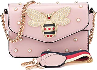 Purses and Handbags for Women Designer Shoulder Crossbody Bags for Women with Chain Bee Fashion