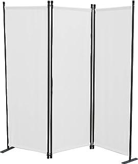 GRASEKAMP Qualität seit 1972 - Biombo de 3 Piezas, Panel de separación, protección Visual, balcón, Color Blanco