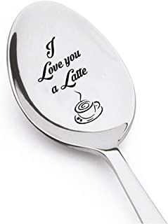 I Love You a Latte - Christmas Gifts For Kids - Cute Boyfriends Gift - Cute Girlfirends Gift - Spoon Gift