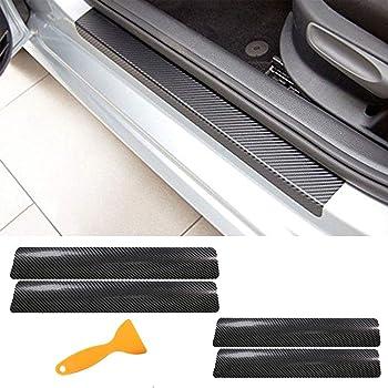 Colore, Rosso Liu xinling 8 Pezzi//Set Copri Soglia in Acciaio Inox per Protezione Battitacco Sottoporta per Nissan X-Trail Xtrail X Trail 2017-2020 . Colla 3M E Facile Installazione