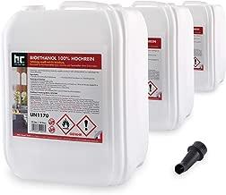 3 x 10 L bioéthanol premium 100% pour cheminée - FRAIS DE PORT OFFERT - bidons de 10 L