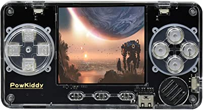 Powkiddy Consoles de Jeux Portables con 4000+ Jeux, Mini Console Portable Retro Trimui Model S Soutien Arcade, PS, GBA, Co...