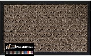 Best Gorilla Grip Original Durable Natural Rubber Door Mat, 29x17, Heavy Duty Doormat, Indoor Outdoor, Waterproof Easy Clean, Low-Profile Mats for Entry, Garage, Patio, High Traffic Areas, Beige Quatrefoil Reviews