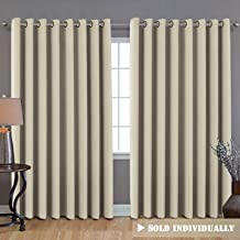 "H.VERSAILTEX Wide Width Thermal Insulated Blackout Curtain - Grommet Top (1 Panel) 100""W x 84""L