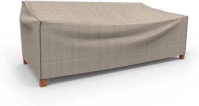 Budge English Garden Outdoor Patio Sofa Cover, Extra Large (Tan Tweed)