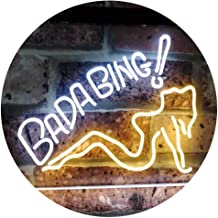 Bada Bing Girl Lady Man Cave Dual Color LED Neon Sign White & Yellow 600 x 400mm st6s64-i2585-wy