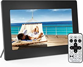 Digital Picture Frame 10 Inch Widescreen - 1280 x 800 IPS Hi-Res Digital Photo & HD Video Frame with Video Player, MP3, Calendar, Zoom in, Create Slideshows with Remote Control