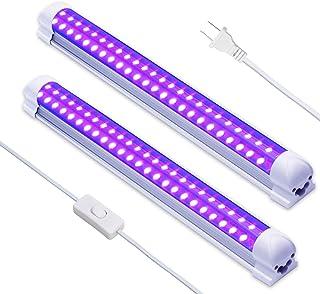 LED Black Light,Exulight 10W UV Light Fixtures 2 Pack Lamp,Black Lights for Parties Halloween Blacklight Poster Lighting (...