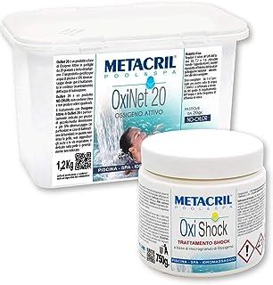 OSSIGENO Pastillas de 20 gr + OSSIGENO SHOCK 500 gr. - para tratamiento sin cloro de piscina y spa hidromasaje (Teuco,Jacuzzi,Dimhora,Intex,Bestway,etc.) Envío inmediato.