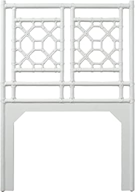 Inspired by David Francis Lattice Back Twin Headboard White